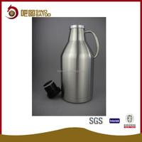 Stainless Steel Swing Top Beer Growler - 2 Liter - Craft Beer Draft Vessel Gift
