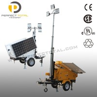 mobile solar tower led signal tower light