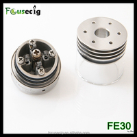 2015 top design glass body heatsink FE30 dripper vaporizer