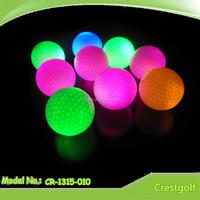 Luminous shining golf ball night golf ball 8 minutes shining LED golf ball