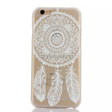 color painting dream catcher design crystal clear TPU/PC phone case for iphone