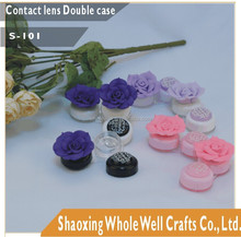 Flower contact lens container,contact lens case/box