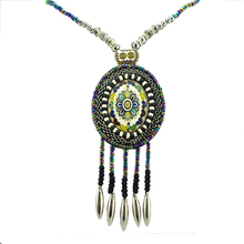 2015 New design brazilian vintage necklace pendant necklace with rope chain