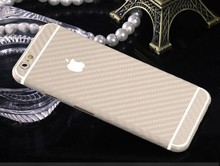 For Iphone Carbon 3D Pattern Full Body Wrap Sticker Skin Cover Case Beige