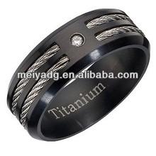 Titanium Cable Inlay Ring
