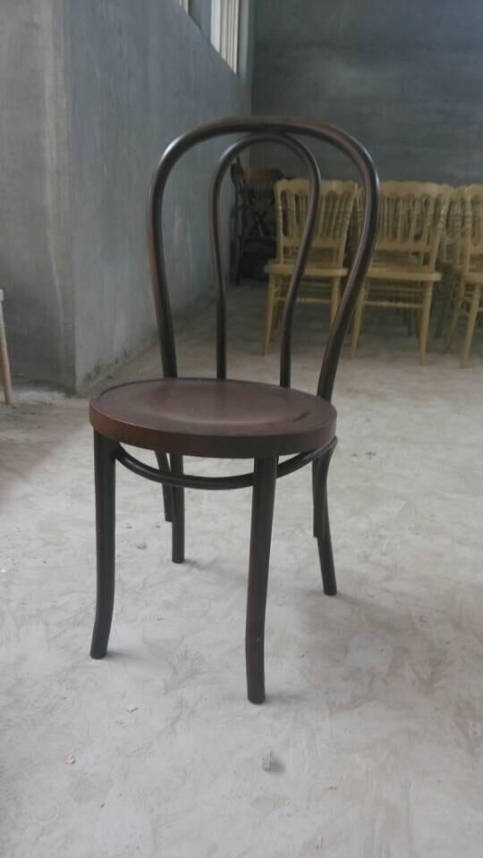 Apilamiento estilo francés silla de comedor de madera curvada ...