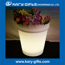Outdoor led furniture plastic led flower Lighting Pot
