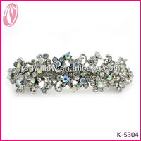 Fancy Clear Crystal Hair Clips with Spring Clip for Thick Hair