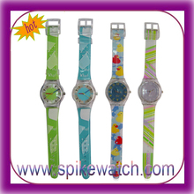 Silk-screen printing your own design cheap wholesale promotional children wrist watch