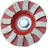 Diamond arrow segmented grinding disc for concrete floor