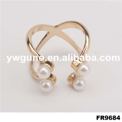 latest pearl fancy gold ring design