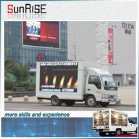 P8mm Outdoor Full Color Smd Led Display Moving Led Display For Truck High Brightness P8 Moving Led Display