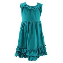 2015 Wholesale Girl Fancy Frock Design For Kids Cute Children Summer Casual Dress