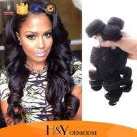 Peruvian virgin hair loose wave, 7A grade peruvian human hair extension at factory price