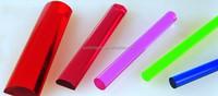 Color cast acrylic tube