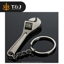 2015 simple designs Fashion Wrench Key Chain Zinc Alloy Silver Plated Changeable Spanner Keychain