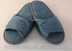 Chenille materials disposable slipper with uniqe desgin