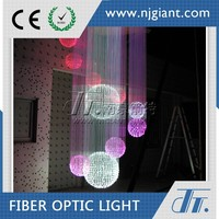 colorful luxury modern chandelier optic fiber crystal light