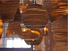 wholesale Cardboard OEM unique art lamp shade