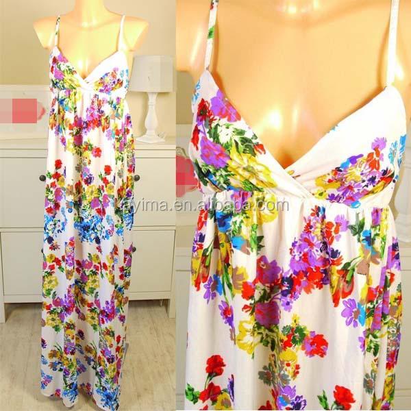 Fashion Woman Floral Maxi