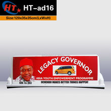 City advertising light box led display taxi dome