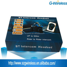 Chinese motorcycle accessories 500m 120km/h motorcycle bluetooth interphone up to 2 Rider