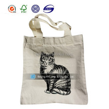 Promotional Eco Friendly Customised 100% Cotton Canvas Jute Shopping Carry Canvas Tote Bag
