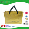Metallic Color PP Non Woven Laminated Shopping Bag, metallic fashional zipper bag