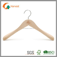 Luxury wooden Top Hanger for clothes - Executive Flare - Natural or antique Finish