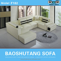2013 New nice Modern Heated sofa U shape guangzhou F182