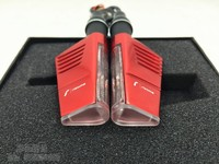 Motorcycle Accessories Red Aluminum Housing LED Motorcycle Turn Signal Lights chopper bobber