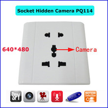 Best home surveillance camera installation wall socket hidden camera PQ114