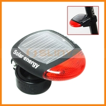 Solar Power Bike LED Cycling Tail Bicycle Rear Red Light Lamp Tail Light