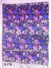 long flower viscose printed scarf