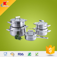 promotion custom 10pcs stainless steel cookware set for cheap