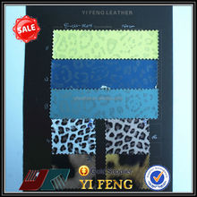 soft hand feeling leopard print pu leather for clothing