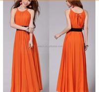 HJL-1015 Veri Gude 2015 summer dress new Plus Size ladies Bohemian chiffon beach maxidress