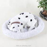 Best quality breathing animal toy sleeping dog looks real