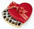 De alta calidad caja de regalo de chocolate en forma de corazón dulce