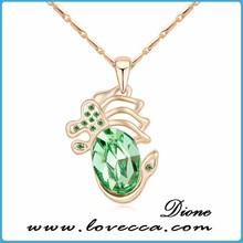 Peridot Fancy Dragon Pendant Fashione Necklace jewelry fashion accessories, made with Swarovski elements