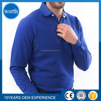 new design 100%cotton high quality plain long sleeves polo t shirt for men