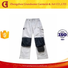 Cheap White Work Pants with Knee Pad