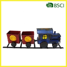Handicraft metal christmas train arts and crafts