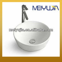 ceramic top mounted sanitary ware round bathroom wash sink MYJ-2008C