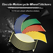 Motorcycle flame car rim wheel decal reflective decorative sticker for motorcycle,bicycle