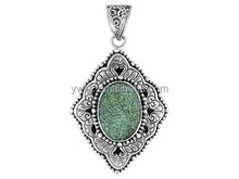 2015 Newest Jewelry Artisan Gem Collection Of Bail Natural Turquoise Drusy Pendant For Necklaces