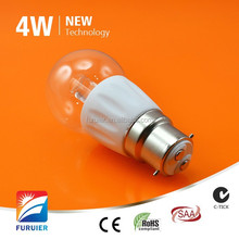 Samsung cob driverless Ceramic+Milky Glass led 4w bulb e27 110v/120v