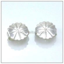 H358 Giant Earring Clutch 10.1*9.7mm Sterling Silver Not Allergic Metal
