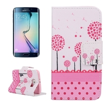 bulk cell phone case PU Leather stand cell phone case for galaxy s6 edge