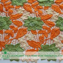 Nueva moda de la tapa telas africanas del cordón blusas elegantes in lace